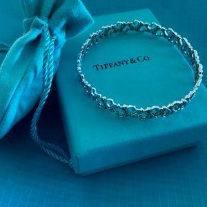 RARE Tiffany sterling silver heart bangle